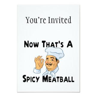 A Spicy Meatball Card