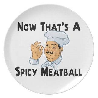 A Spicy Meatball Dinner Plate