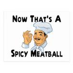 A Spicy Meatball Postcard