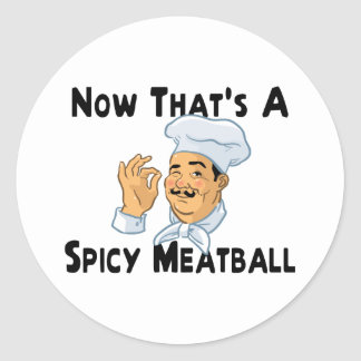 Spicy Meatball Classic Round Sticker