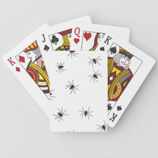 A Spiders flock pattern cartoon Poker Deck