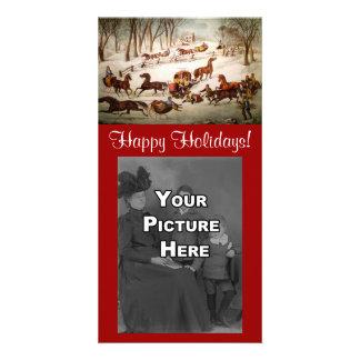 A Spill Out On The Snow Christmas Photocard Card