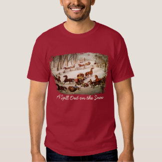 A Spill Out on the Snow Men's T-Shirt