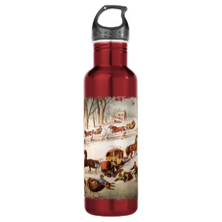 A Spill Out on the Snow Stainless Steel Water Bottle