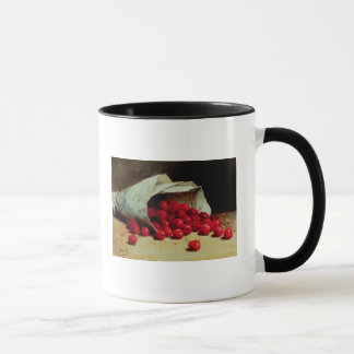 A spilled bag of cherries mug