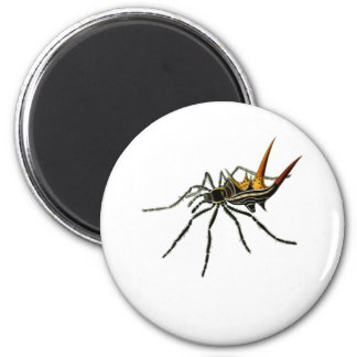 A spined orb-weaving spider 2 inch round magnet