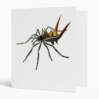 A spined orb-weaving spider 3 ring binders