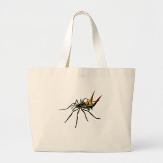 A spined orb-weaving spider bags