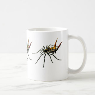 A spined orb-weaving spider classic white coffee mug
