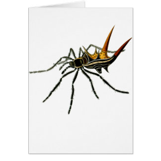 A spined orb-weaving spider greeting card