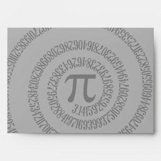 A sPIral for Pi Click Customize Change Grey Color Envelopes