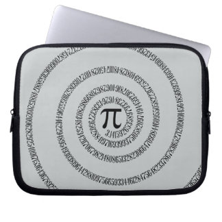 A sPIral for Pi Click Customize Change Grey Color Laptop Sleeve