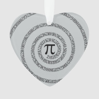 A sPIral for Pi Click Customize Change Grey Color Ornament