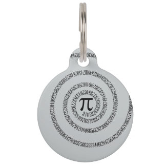 A sPIral for Pi Click Customize Change Grey Color Pet Name Tag