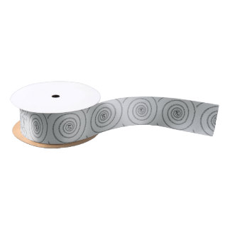 A sPIral for Pi Click Customize Change Grey Color Satin Ribbon