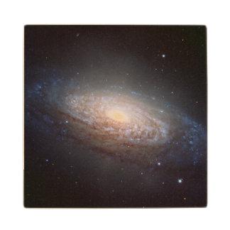 A spiral galaxy in Leo Wooden Coaster