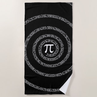 A Spiral of Pi Graphic on a Beach Towel