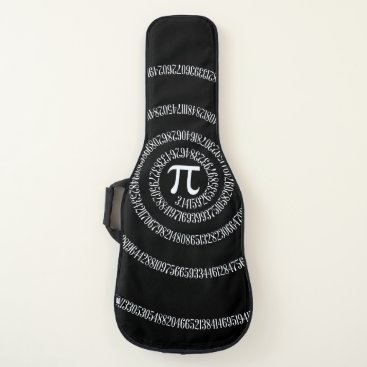 USA Themed A Spiral of Pi Graphic on a Guitar Case