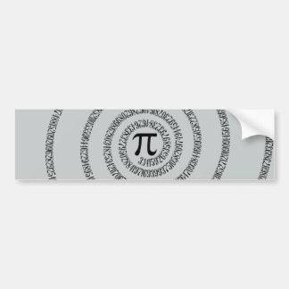 A sPIral on Pi Click Customize Change Grey Color Bumper Sticker