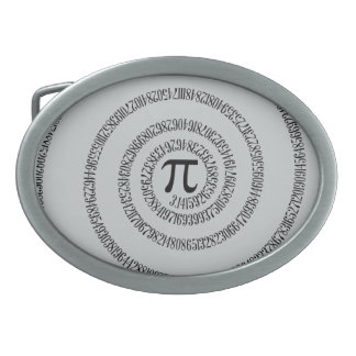 A sPIral on Pi Click Customize Change Grey Color Oval Belt Buckle