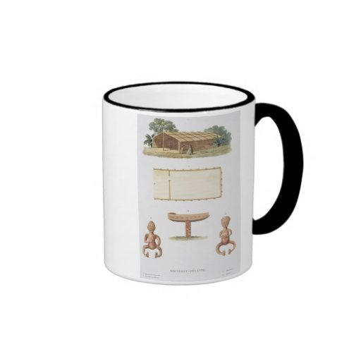 A spirit house, New Zealand, from 'Voyage autour d Mug
