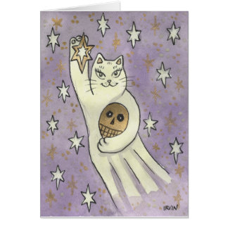 A Spirited Lucky Star Greeting Card