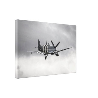 A Spitfire Departs For France 1944 Canvas Print