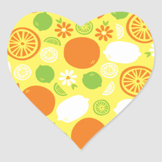 A Splash of Citrus Heart Sticker