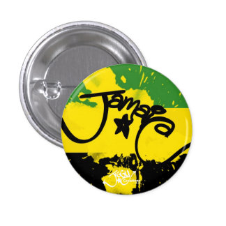 A splash of Jamaica! Small Button Pin