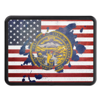 A Splash of Nebraska | Weathered State Flag Trailer Hitch Cover