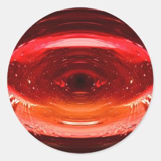A Splash of Red Classic Round Sticker