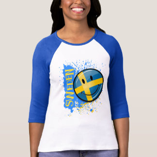A Splash of Swedish Smiling Flag T-Shirt