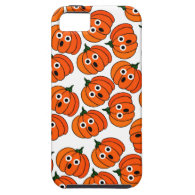 A Spooked Pumpkin (Add Background Color) iPhone 5 Cases