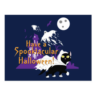 A Spooktacular Halloween Postcard