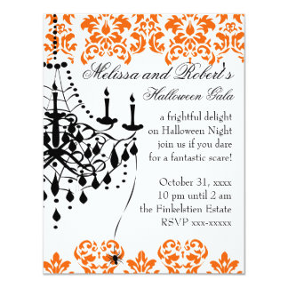 A Spooky and Stylish Chandelier Card