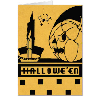 """""""A SPOOKY NIGHT SHOW"""" VINTAGE HALLOWEEN GREETING GREETING CARDS"""