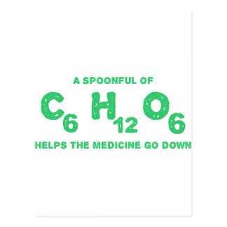 A Spoonful of C6H12O6 Helps the Medicine Go Down Postcard