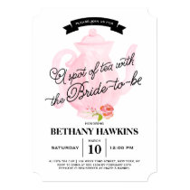 A Spot of Tea with the Bride-to-be   Bridal Shower Card