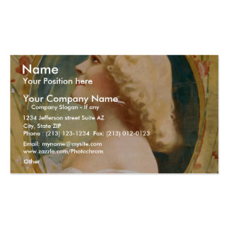 A Spring Chicken, 'Madeline Marshall' Retro Theate Double-Sided Standard Business Cards (Pack Of 100)