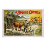 A Spring Chicken Vintage Poster