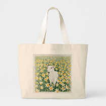 A Spring in the Step Large Tote Bag