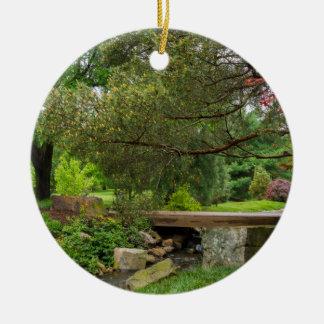 A Spring Stroll Ceramic Ornament