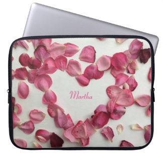 A sprinkling of rose petals - laptop case laptop computer sleeve
