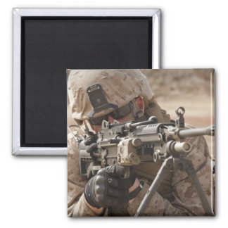A squad automatic weapon gunner provides securi 2 inch square magnet