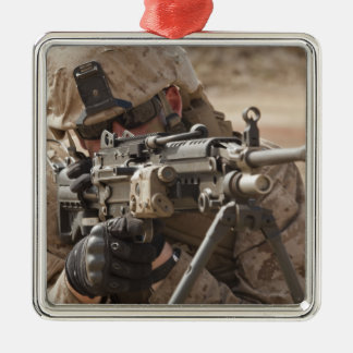 A squad automatic weapon gunner provides securi metal ornament