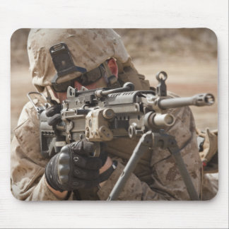 A squad automatic weapon gunner provides securi mouse pads