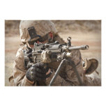 A squad automatic weapon gunner provides securi photo print
