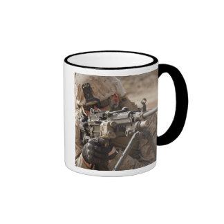 A squad automatic weapon gunner provides securi ringer mug