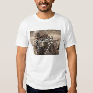 A squad automatic weapon gunner provides securi T-Shirt