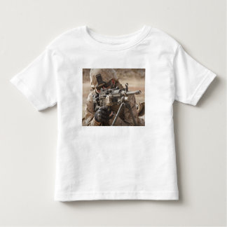 A squad automatic weapon gunner provides securi toddler t-shirt